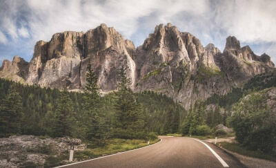 On the CANAZEI's road, Dolomites