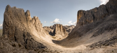 Le canyon du Passo Santner, Catinaccio group, Dolomites, South Tyrol